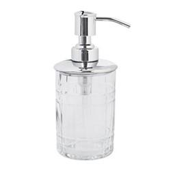 Cut Glass Soap dispenser, D7.5 x H16.5cm, clear