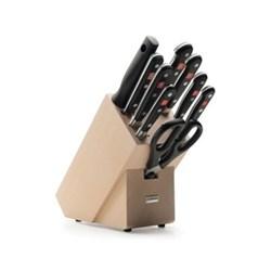 Classic Knife block set 9 piece, beech