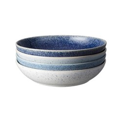 Studio Blue Set of 4 pasta bowls, 22 x 5cm, blue tones