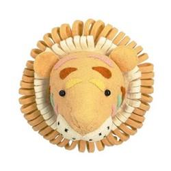 Mini wall mounted tiger head, H25 x W25 x D25cm, sand