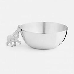 The Highland Safari Collection Medium bowl, D13 x H11cm, elephant