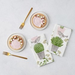 Cactus & Bird Set of 4 napkins, 45 x 45cm
