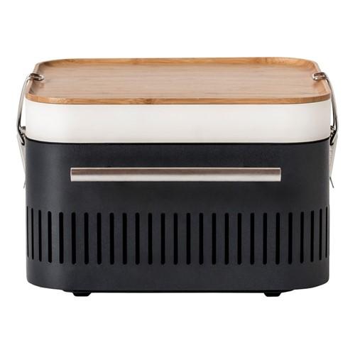 Cube Charcoal portable barbeque, H23 x D35 x W43cm, graphite