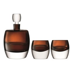 Whisky Club Whisky set, peat brown
