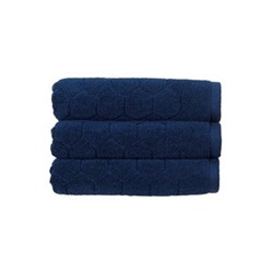 Honeycomb Pair of hand towels, 50 x 100cm, navy