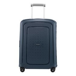 S'Cure Spinner suitcase, 55 x 40 x 20cm, navy blue stripes