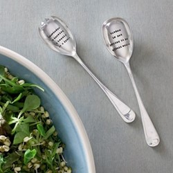 Knowledge Is Pair of salad servers, 21cm, silver plated
