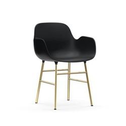 Form Armchair, L48 x H80 x D52cm, Black