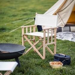 Wimborne Directors chair, H87 x W49 x D65cm, Natural