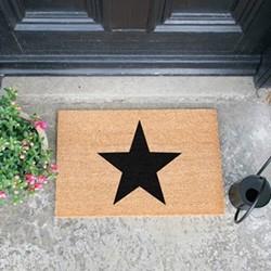 Star Doormat, L60 x W40 x H1.5cm