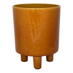 Pisa Planter, H16 x W19 x D19cm, mustard