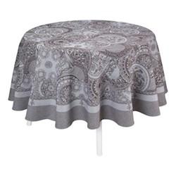 Porcelaine Tablecloth, Dia210cm, beige