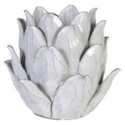 Flower Candle holder, H16.5 x 16cm, white