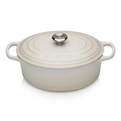 Signature Cast Iron Oval casserole, 25cm - 3 litre, meringue