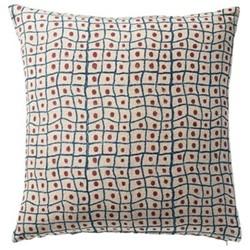 Linnaeus Squares Cushion cover, L56 x W56cm, burgundy/indigo