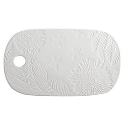 Panama Panama Stoneware Oblong Cheese Platter Gift Boxed, WHITE