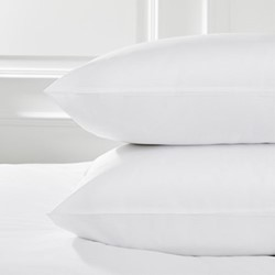 Savoy - 400 Thread Count Egyptian Cotton Standard pillowcase, 50 x 75cm, white