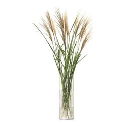Wicker Vase, H40 x Dia13cm, clear