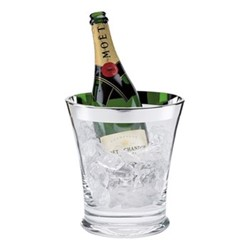Champagne cooler, H22 x W20cm, crystal and sterling silver