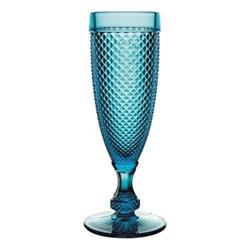 Bicos Set of 4 flutes, H19cm - 11cl, blue