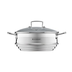 3 Ply Stainless Steel Large multisteamer with glass lid, 34 x 24 x 17cm