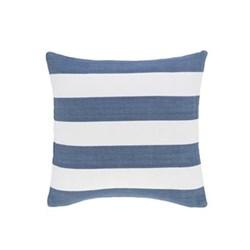 Fresh American - Catamaran Polypropylene indoor/outdoor cushion, 53 x 53cm, denim/white