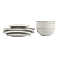 Natural Canvas 12 piece tableware set, natural