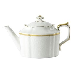 Darley Abbey Pure Gold Smll teapot, 51cl, white/gold