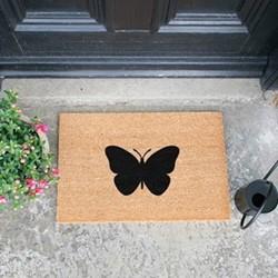 Butterfly Doormat, L60 x W40 x H1.5cm