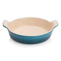 Stoneware Round baking dish, Dia20cm, deep teal