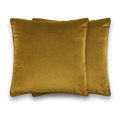 Julius Pair of large velvet cushions, H59cm, antique gold