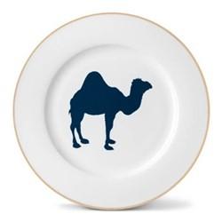 Camel Dinner plate, 26cm, gold rim