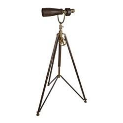 Monocular on tripod, H170 x D96cm, black/brass