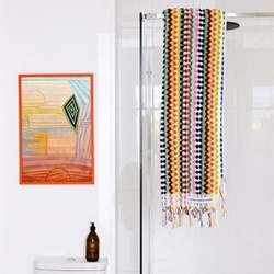 Terry Towel, 80 x 160cm, multicoloured spot