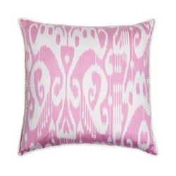 Ikat Cushion, 50 x 50cm, Pink/White