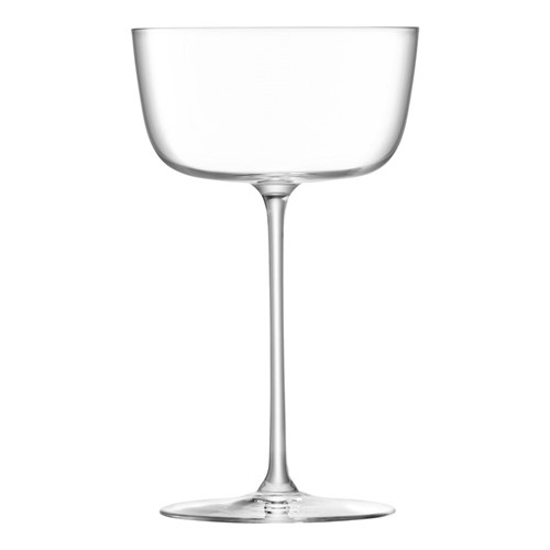 Borough Set of 4 cocktail saucers, 240ml, clear