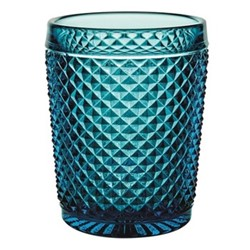 Bicos Set of 4 old fashioned tumblers, H11cm - 28cl, blue