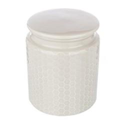 Storage canister, Dia14 x H17cm, grey stoneware