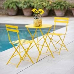 Rive Droite Bistro set, small, Yellow