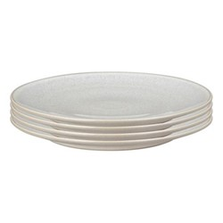 Modus Speckle Set of 4 dinner plates, 27.5cm, beige/ natural