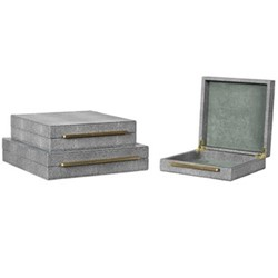 Pair of boxes, H80 x W30 x D30cm, grey