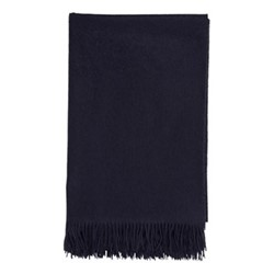 Plain Cashmere bed throw, 230 x 150cm, navy