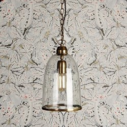 Percy Small pendant light, D17 x H26cm, brass chain