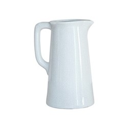 Corinium Small vase, H23.5 x D14cm, white