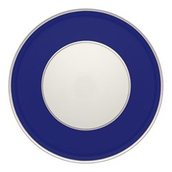 Harvard Charger plate, 33cm, blue