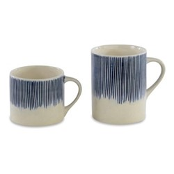 Karuma Mug, H7 x D8cm, blue and white