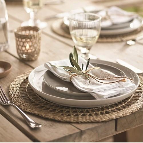 Portobello Dinner plate, Dia28cm, white