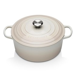 Signature Cast Iron Round casserole, 28cm - 6.7 litre, meringue