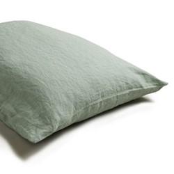 Pair of standard pillowcases, 50 x 75cm, sage green