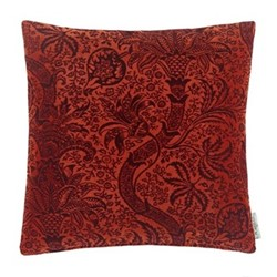 Indian Flock Velvet Cushion, W50 x L50cm, red